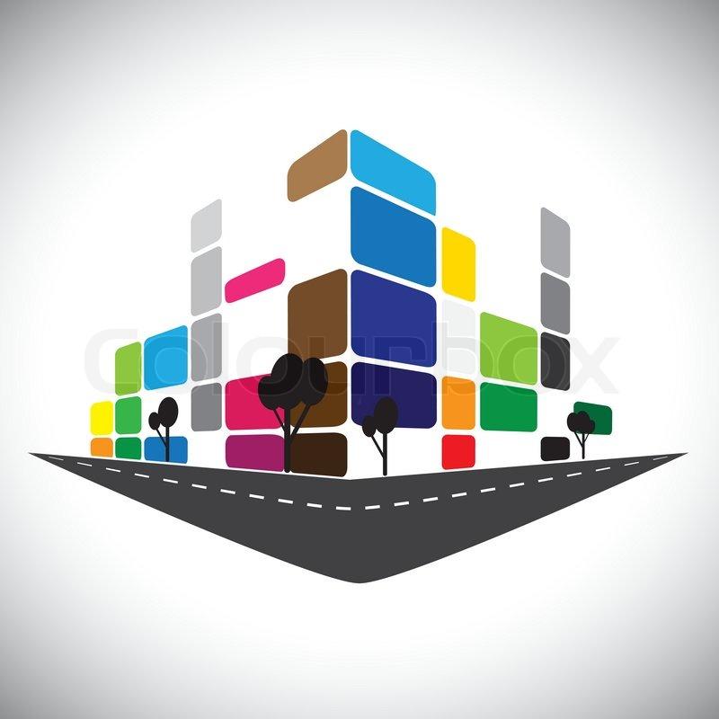 vektor icon geb ude haus wohnung oder super markt oder im b ro raum vektorgrafik colourbox. Black Bedroom Furniture Sets. Home Design Ideas