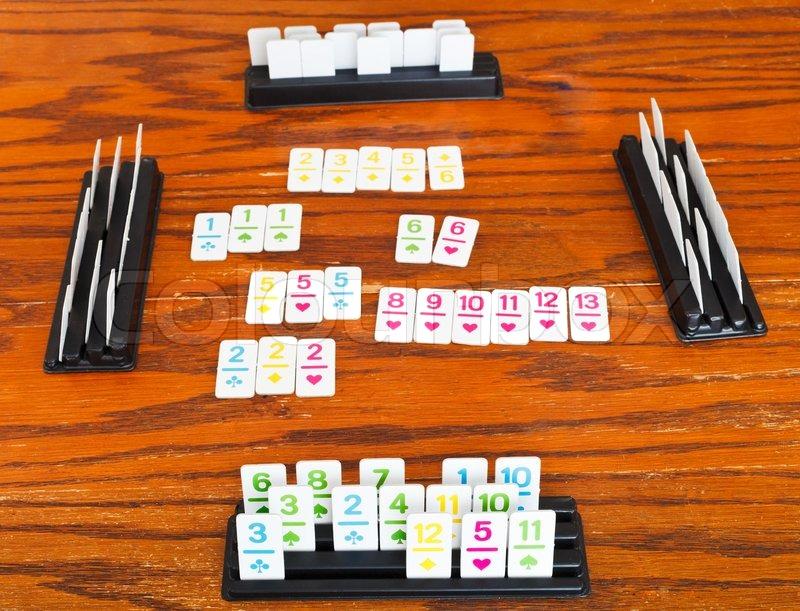 Spielfeld Rummy Kartenspiel Stockfoto Colourbox