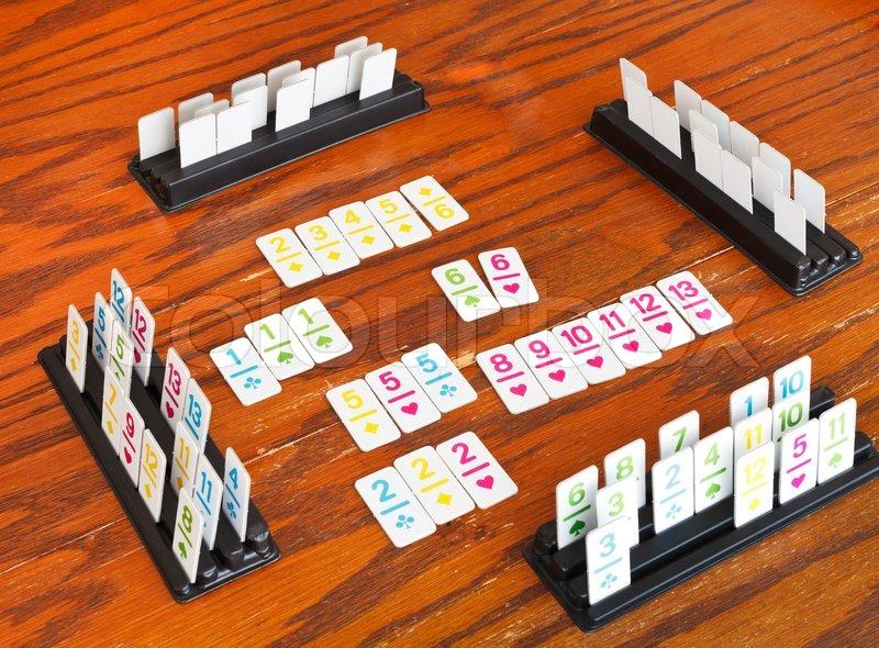 Playingfield Rummy Kartenspiel Stockfoto Colourbox