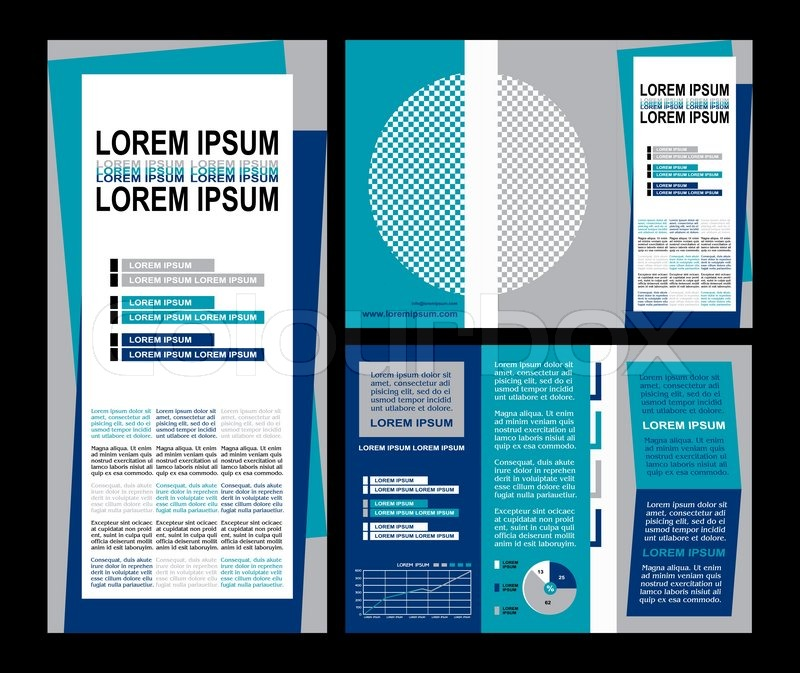 Business Brochure Layout Three Fold Flyer Template Design - Modern brochure template