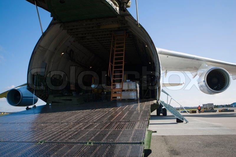 & Freight door of a cargo plane | Stock Photo | Colourbox
