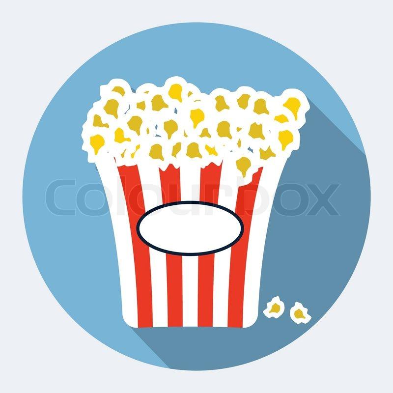 Popcorn flat icon | Stock Vector | Colourbox