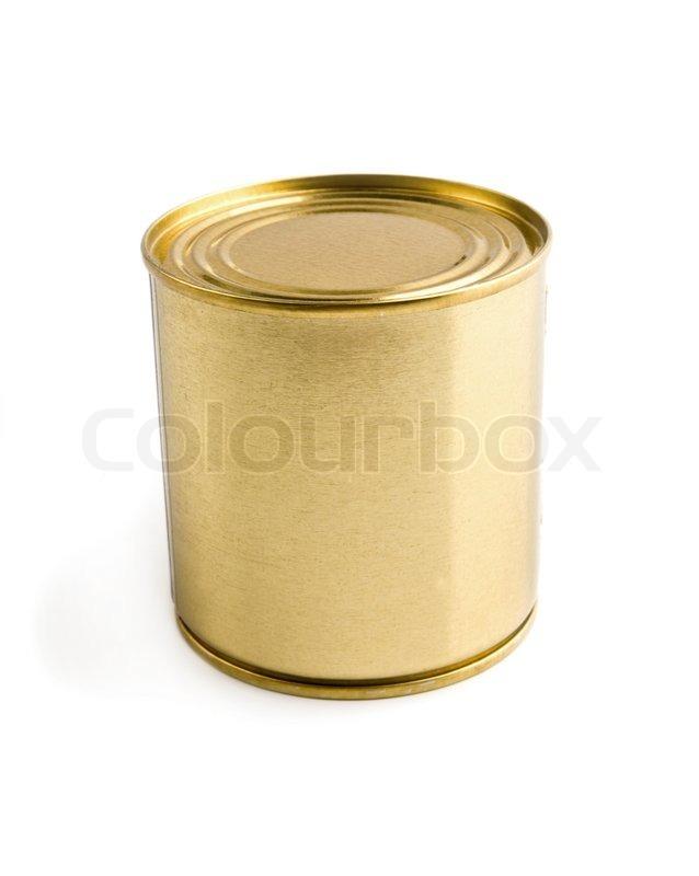 Metallic Canning Jar On A White Stock Photo Colourbox