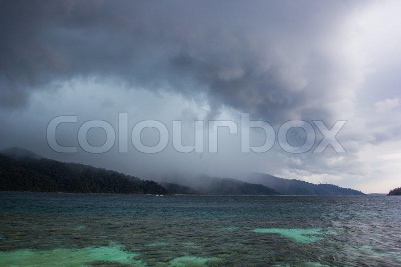 Rain storm coming, stock photo
