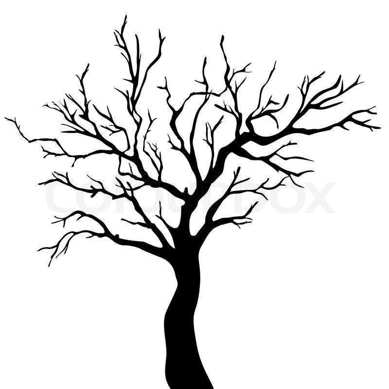 tree silhouette stock vector colourbox rh colourbox com tree silhouette vector file tree silhouette vector art
