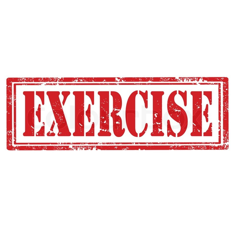Workout Words: Grunge Rubber Stamp With Word Exercise,vector Illustration