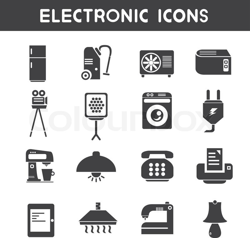 Electronic Device Icons Stock Vector Colourbox