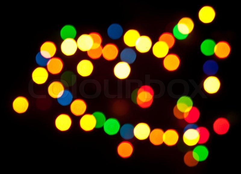 или на ночном фото цветное пятно или