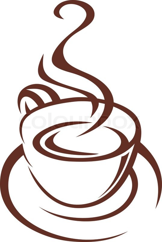 brown and white doodle sketch of a steaming cup of coffee coffee mug clipart images coffee mug clip art black and white