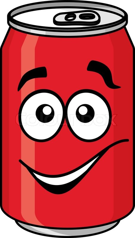 red cartoon soda or soft drink can with a smiling face cocktail clipart pictures cocktail clip art black and white