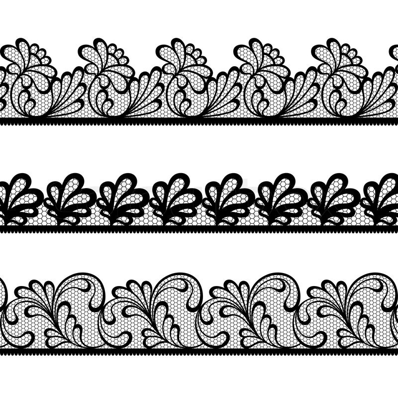 set of black lace vector borders stock vector colourbox rh colourbox com lace vector free illustrator lace vector free
