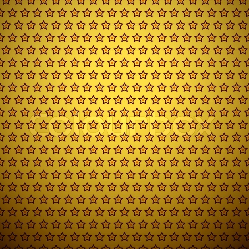 Abstract star pattern wallpaper. Vector illustration for attractive modern  design. Yellow, black and orange colors. Seamless funny holiday background.