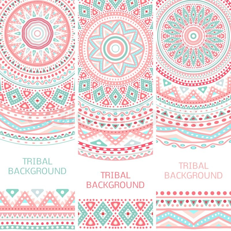 tribal ethnic vintage banners vector illustration for your cute