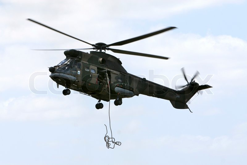 Stock image of 'helicopter, air force, daylight'