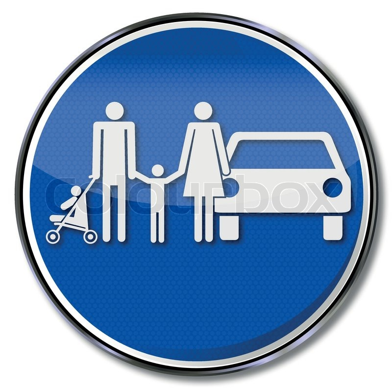 schild familie und familienparkplatz  stockvektor