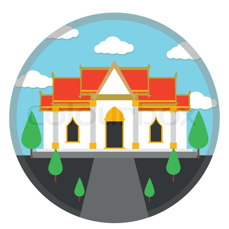 Chinese Temple Vector Stock Vector of 39 Thai Temple