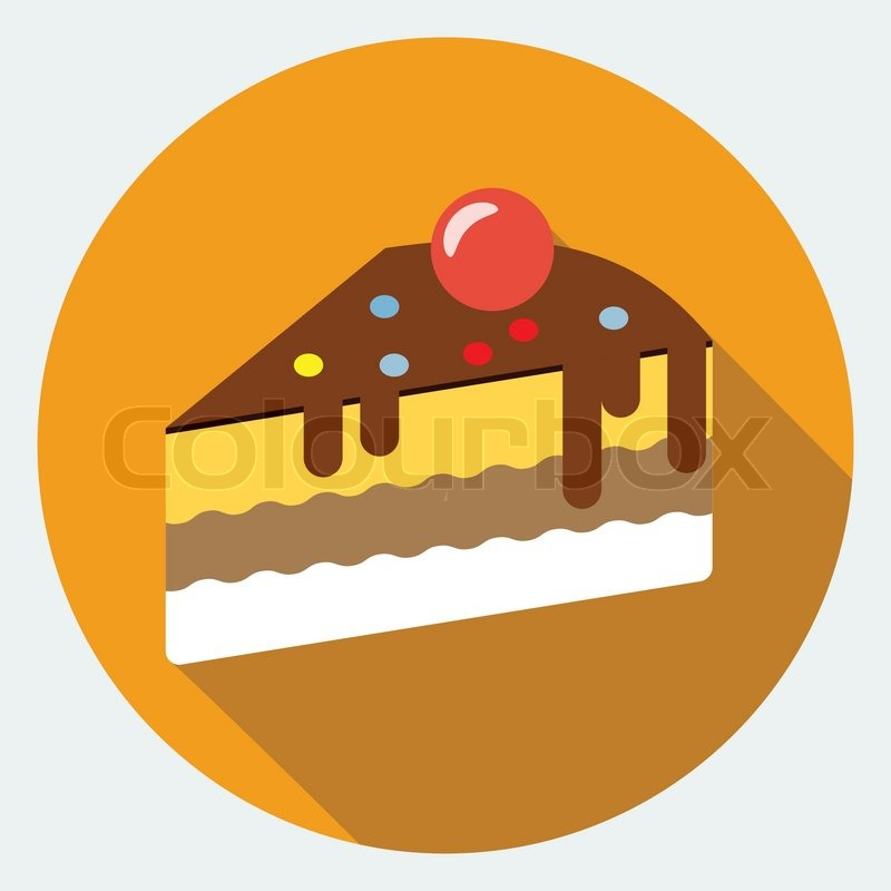 Kuchen Symbol Vektorgrafik Colourbox