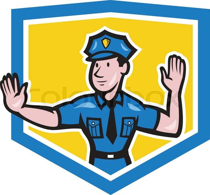 Illustration of a traffic policeman police officer making a stop ...