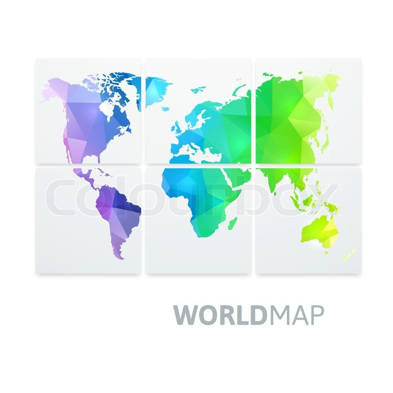 Geometric triangle world map of rainbow color isolated on white geometric triangle world map of rainbow color isolated on white vector background stock vector colourbox gumiabroncs Image collections
