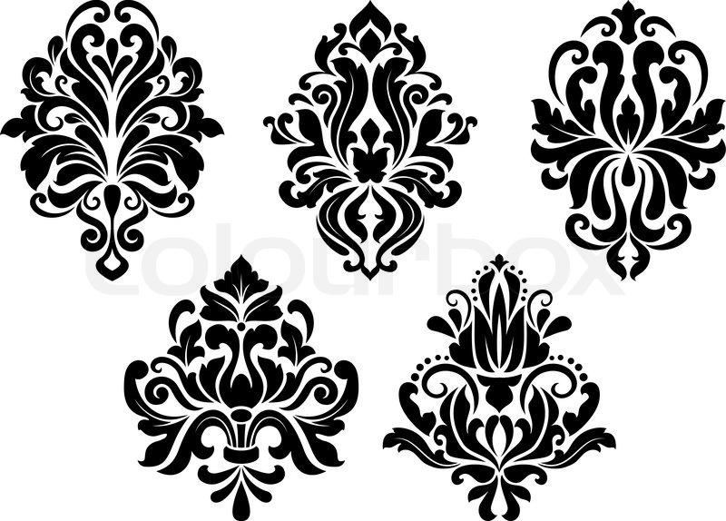 Dekorative Florale Elemente Stock Vektor Colourbox