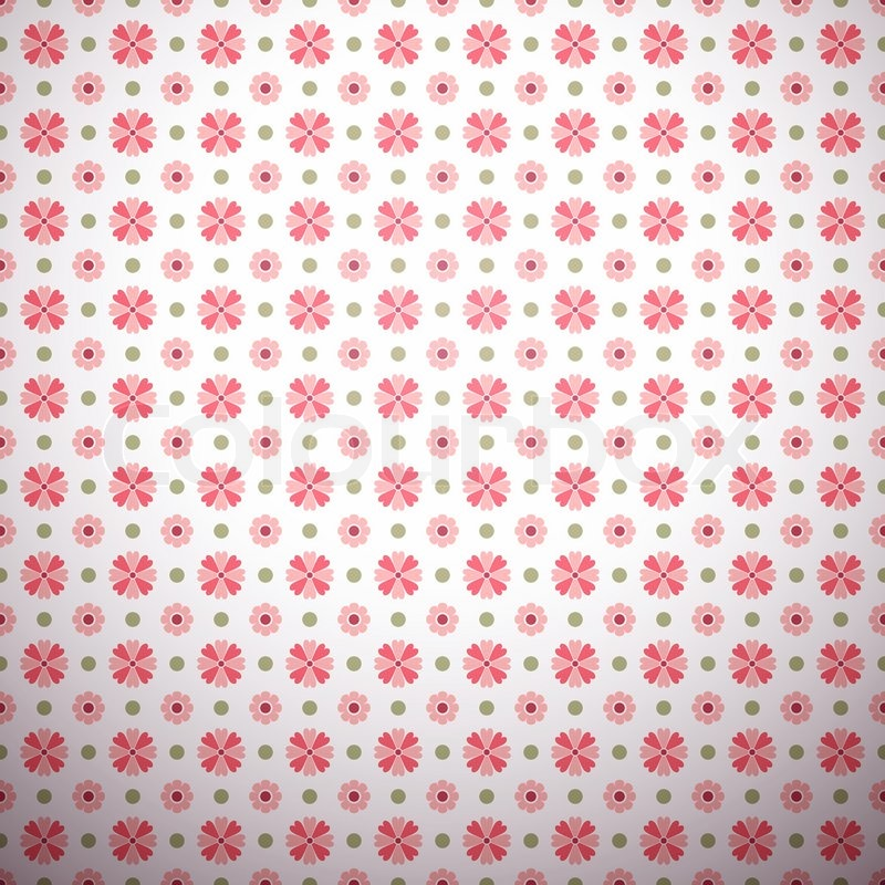 Abstract Flower Pattern Wallpaper With Stock Vector
