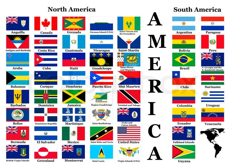 flags of america complete set of flags in original colors over