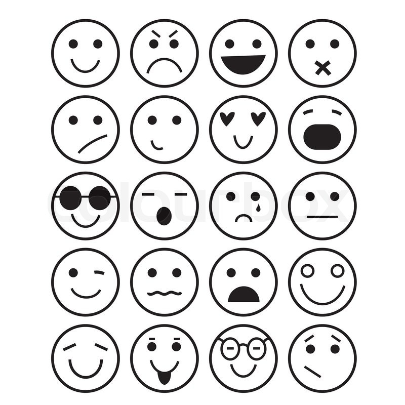 SmilesSymbole verschiedene Emotionen