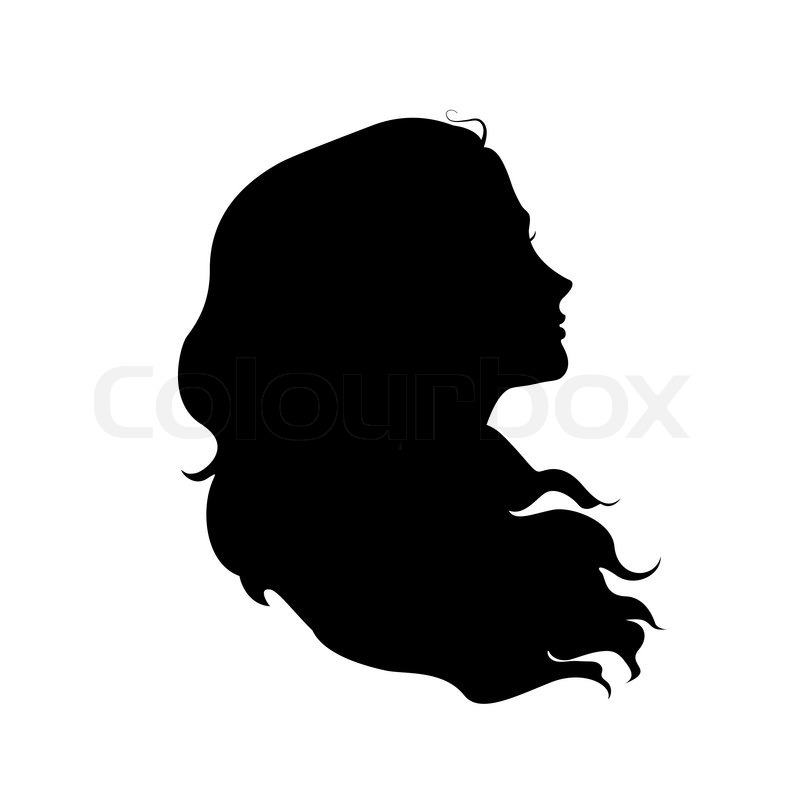 Silhouette Of Woman S Head With Waving Hair Stock Vector