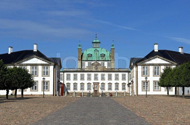 Fredensborg Castle located in zealand, Denmark, stock photo