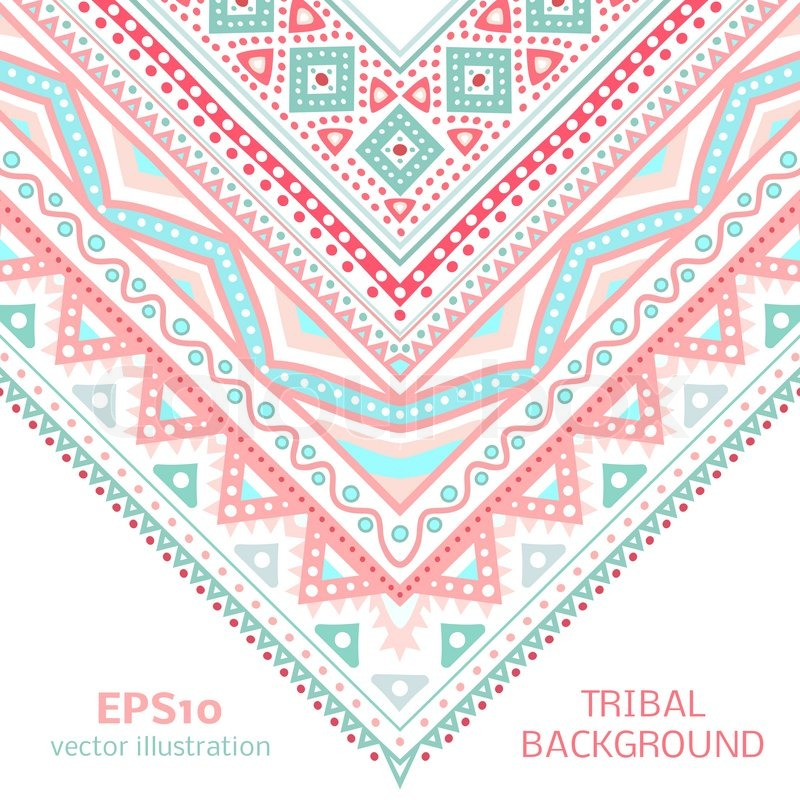 Tribal ethnic corner pattern. Vector illustration for your ...