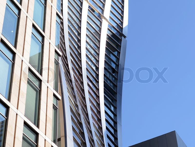 Curved style of architecture building, stock photo