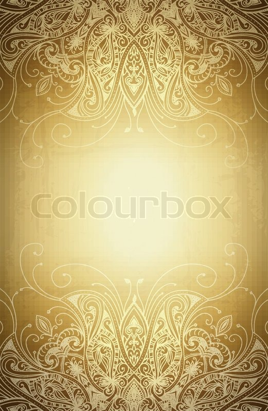Stock Vector Of Vintage Vector Pattern Hand Drawn Abstract Background Decorative Retro Banner