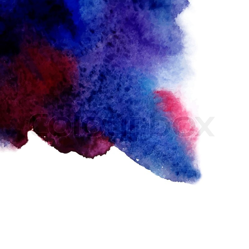Vector abstract hand drawn watercolor background blue for Watercolor painting templates free