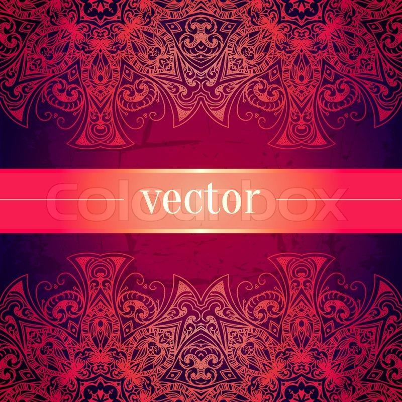 Red Book Cover Pattern : Abstrakt luxus schmuck vektorgrafik colourbox