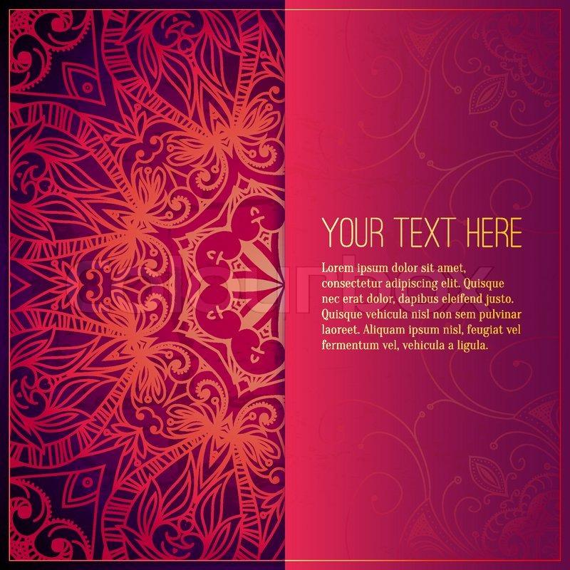 Abstrakt, luxus, ornamente | Vektorgrafik | Colourbox Wedding Cards Background Red
