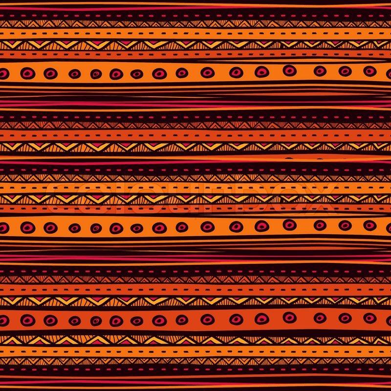 tribal vector seamless pattern hand   stock vector