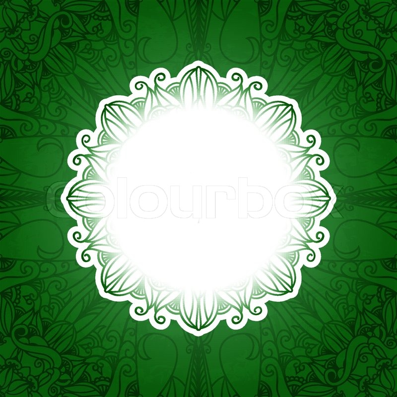 Arabic Book Cover Design Vector ~ Green vintage floral banner vector grass background with