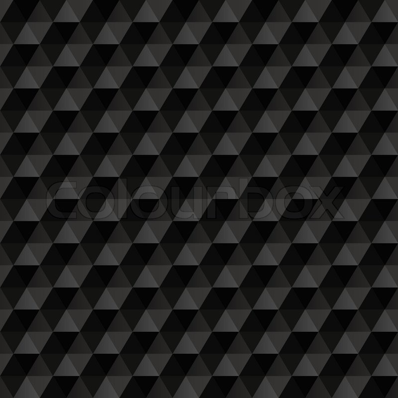 3d Black Abstract Background. Geometric Seamless Pattern