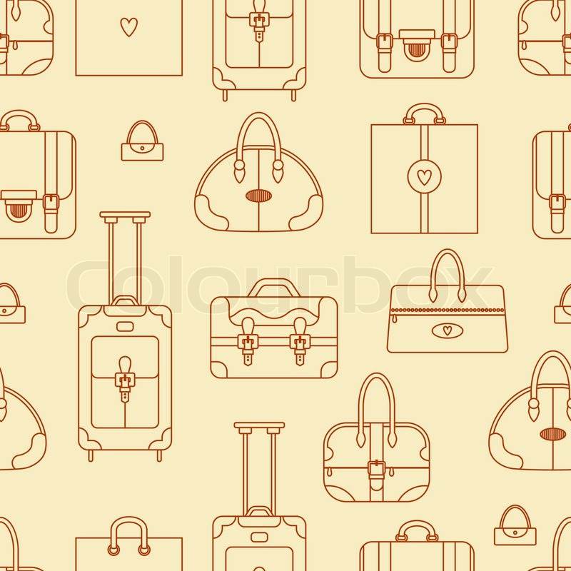abstract seamless vector background with shopping bags handbags