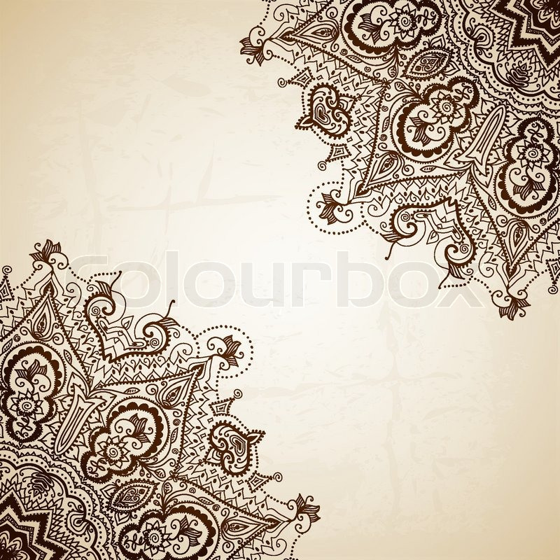 Vintage Vector Pattern Hand Drawn Stock Vector