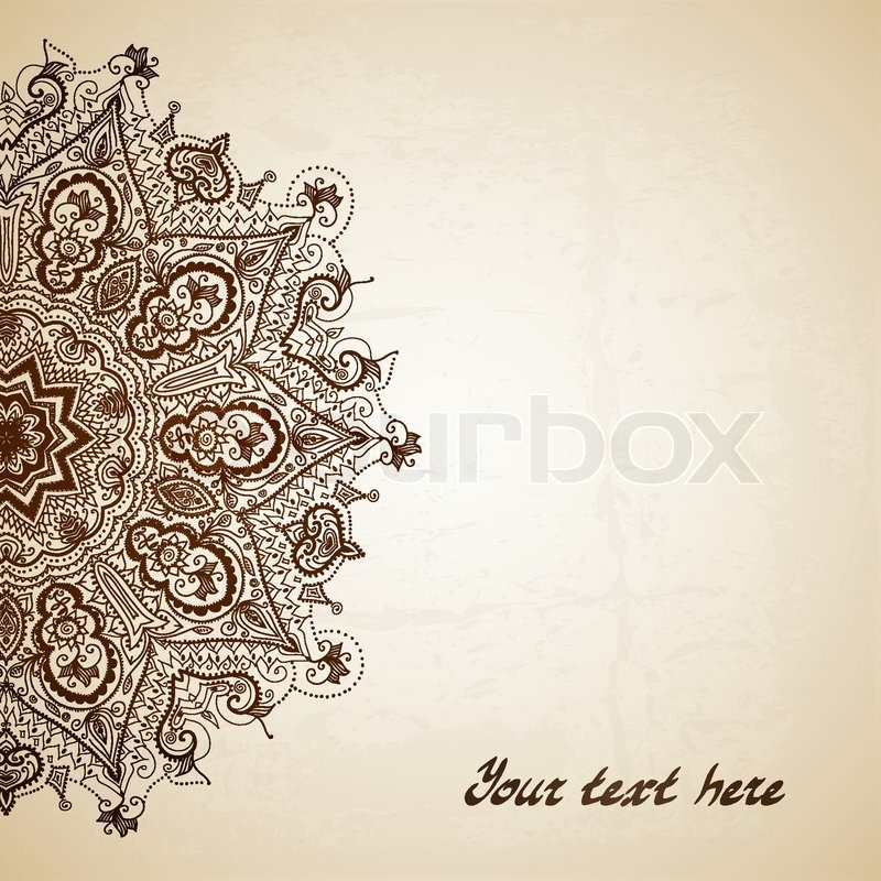 Vintage vector pattern. Hand drawn abstract background. Decorative ...