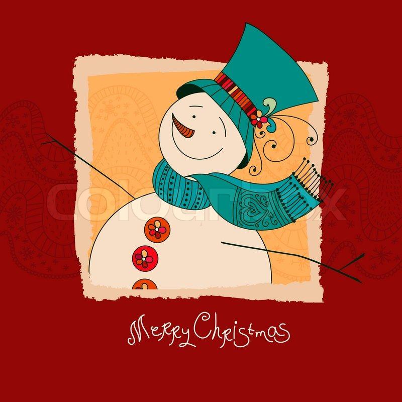 weihnachts design xmas einladung mit schneemann frohe. Black Bedroom Furniture Sets. Home Design Ideas