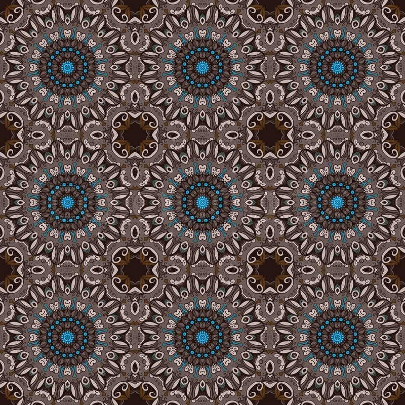 Abstract Background Ethnic Seamless Pattern Design Hand Drawn Element Vector