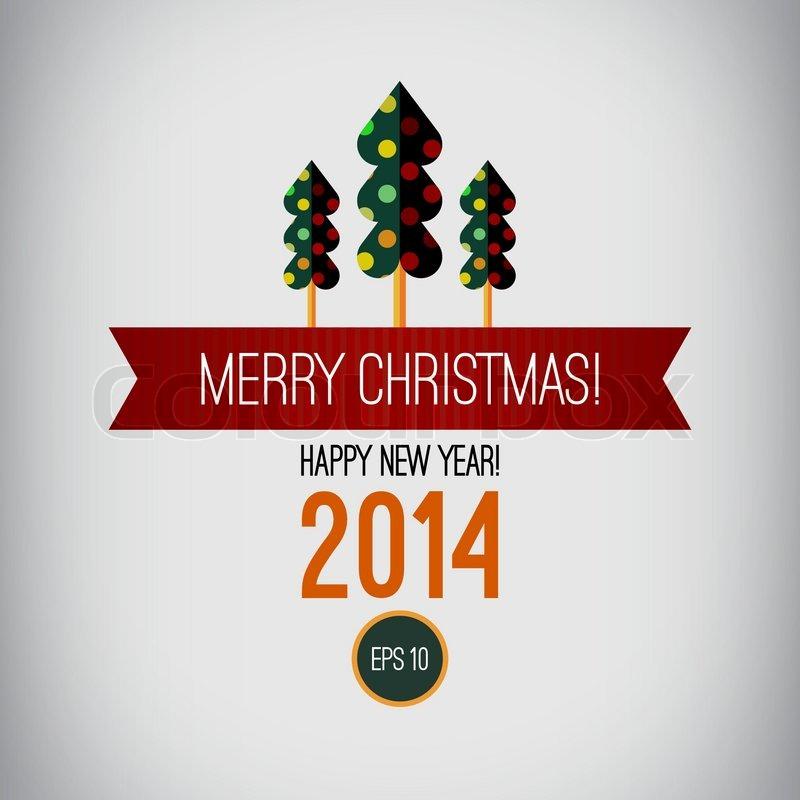 Frohe Weihnachts Design Frohes Neues Jahr 2014 Vintage