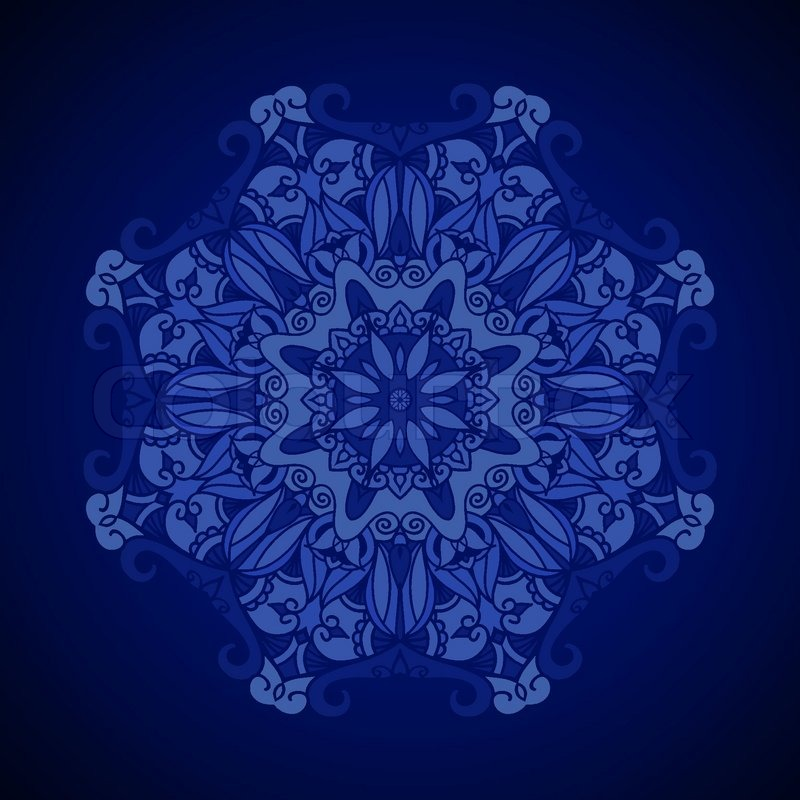 Vector ornamental background. Royal blue texture. Ethnic ...