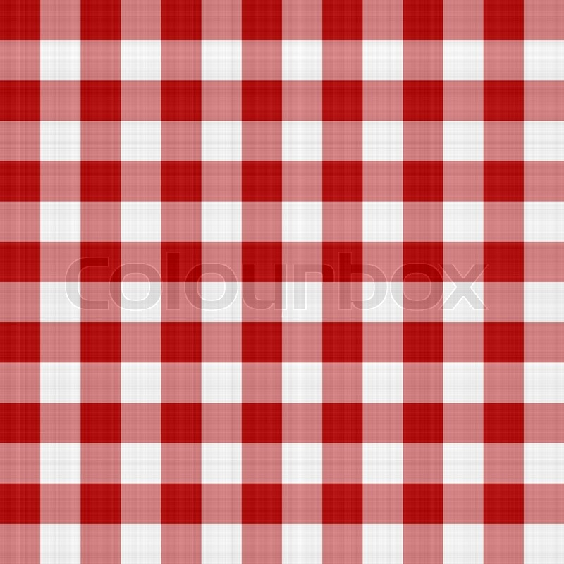 Red And White Picnic Table Cloth Pattern Illustration That Tiles Seamlessly  As A Pattern. | Stock Photo | Colourbox