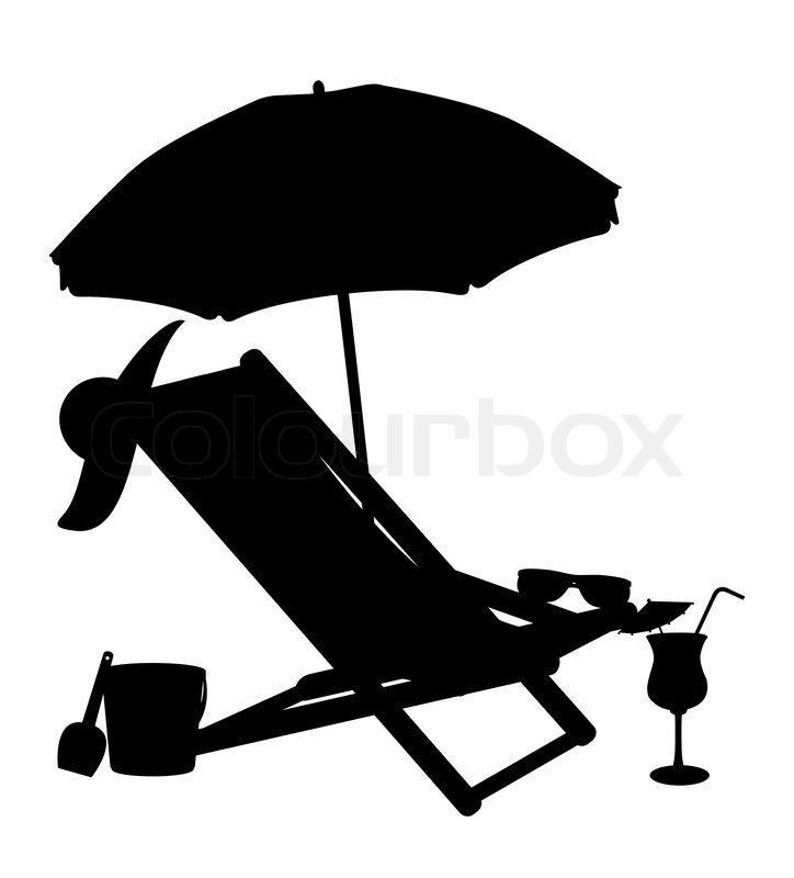 beach-lounge-chair-silhouette
