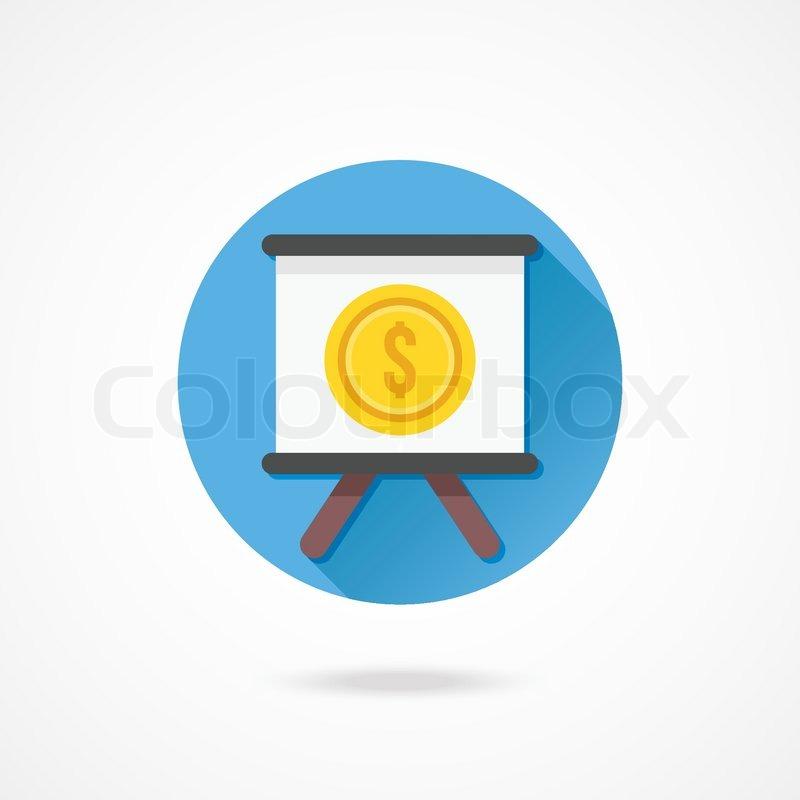 Vector Presentation Board and Dollar     | Stock vector