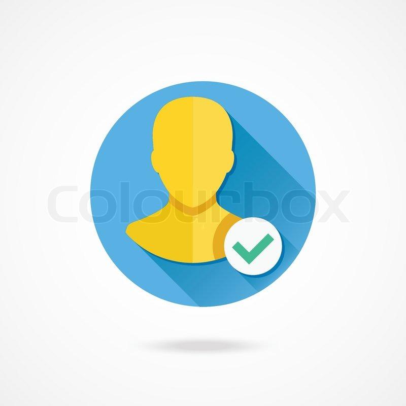 Vector Verified Account Icon Stock Vector Colourbox