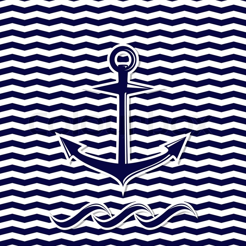 chevron background with anchor computer
